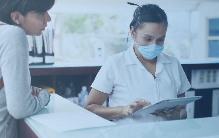 Digitale Patientenaufnahme in der Klinik
