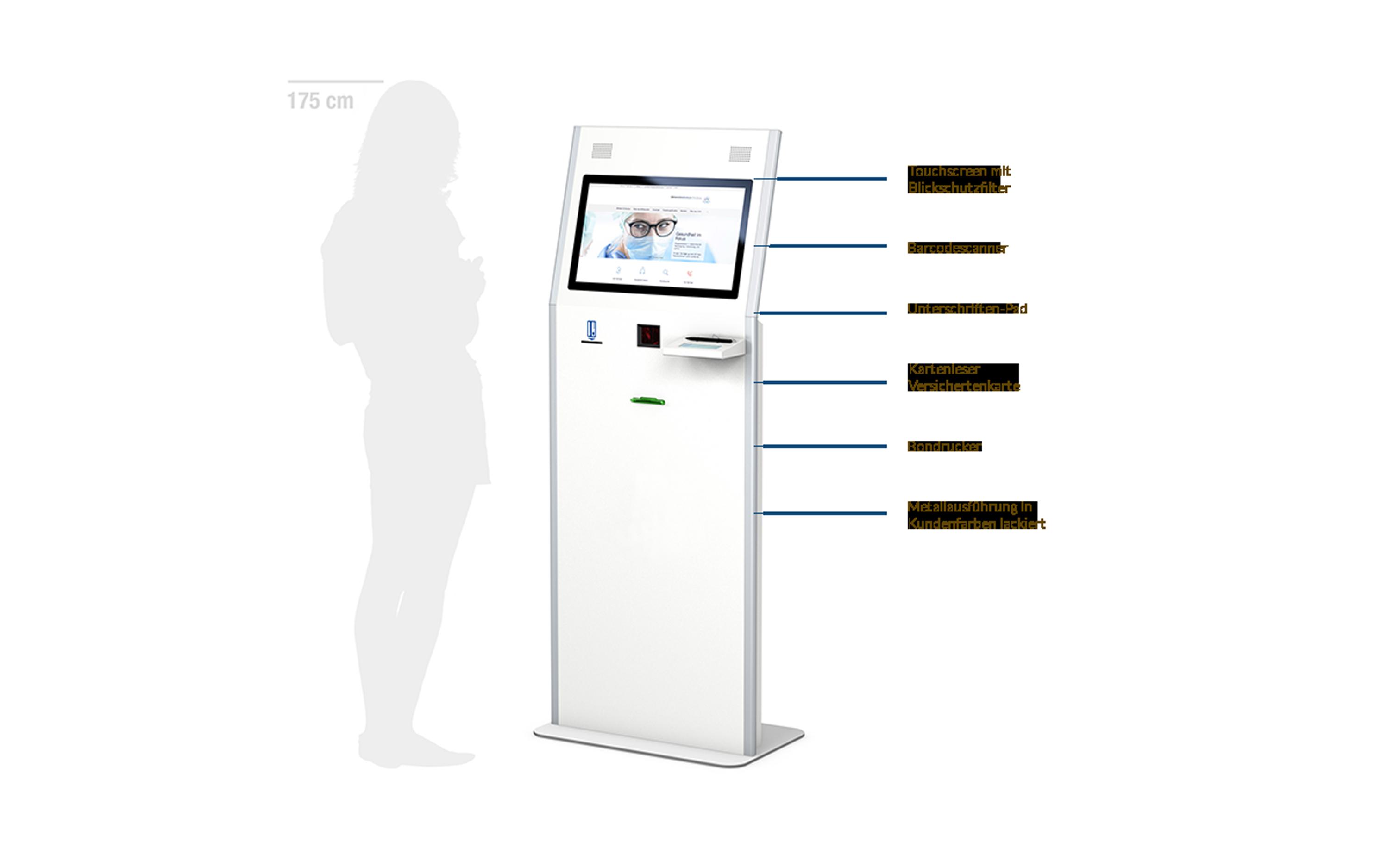 POLAVIS Kiosksysteme für den Online Check-In ins Krankenhaus