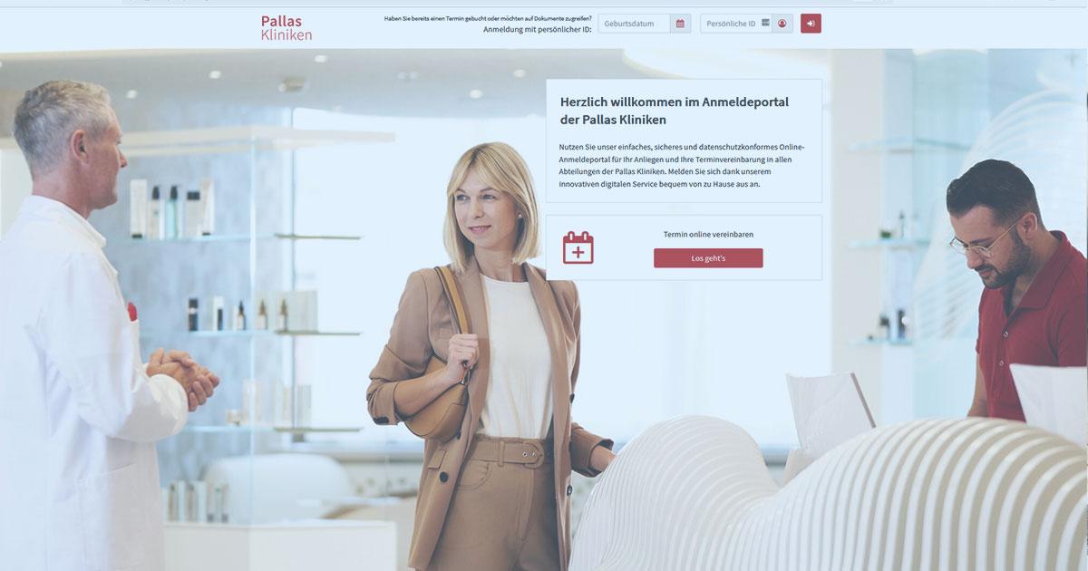 Anmeldeportal fuer Online Termine der Pallas Kliniken